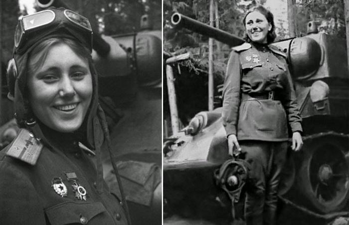 Александра Самусенко - единственная женщина-командир танкового батальона. | Фото: rarehistoricalphotos.com.