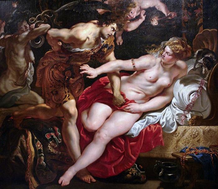Tarquinius and Lucretia - Рубенс- 1610